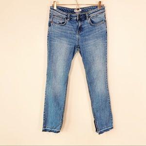 FREE PEOPLE Released Hem-Split Skinny Jeans 30
